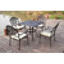Cast aluminum outdoor dining chair