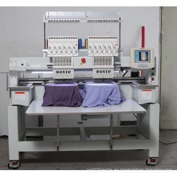 Wyonyo Industrial de dos cabezas Cap Camiseta Mixed máquina de bordado informatizada