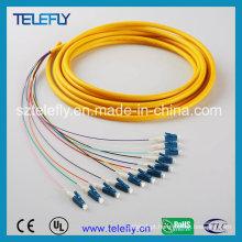 Cabo de remendo da fibra óptica de LC, cabo de remendo da fibra óptica
