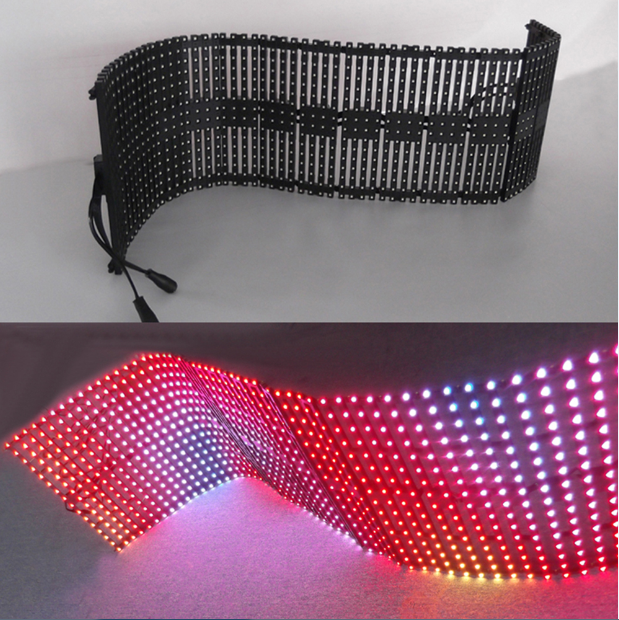 Flexibel LED-gordijnscherm P10 LED-scherm