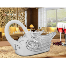 OEM Custom Promotional Gift Home Decoration Paper Tissue Box Resin Swan Napkin Box