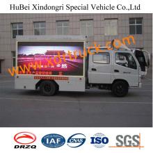 Caminhão de outdoor móvel Foton 4.8cbm com tela de LED