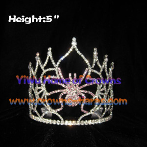 Wholesale Purple Crystal Halloween Spider Crowns