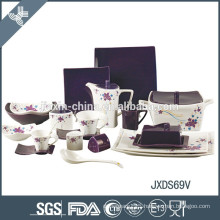 High quality wholesale porcelain latest dinner set with popular design
