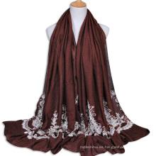 2017 precio barato del cordón del bordado de las mujeres musulmanas hijab árabe shemagh bufanda