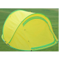 Double Yellow Two Door Breathable Mosquito Campaing Outdoor Tent