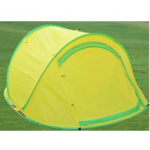 Tente d'extérieur Campaing moustique respirante à double porte jaune