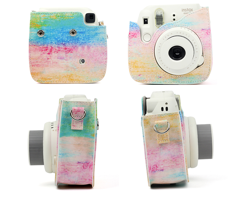 Watercolor Instax Camera Case Details 2