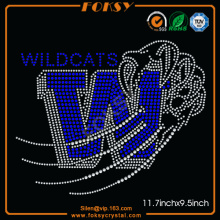 Wildcats rhinestone iron on transfers for t shirts