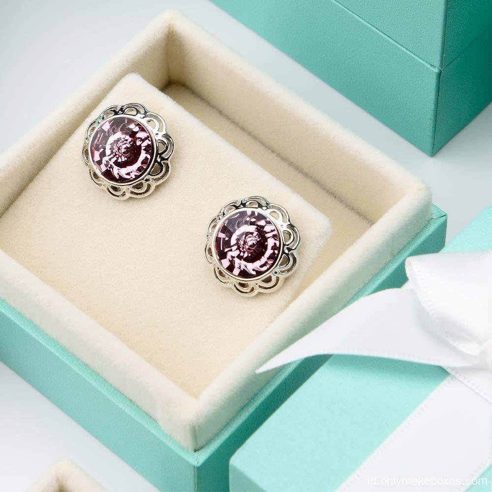 Bow-Knot Earrings Storage Box Perhiasan Kemasan Gift Box