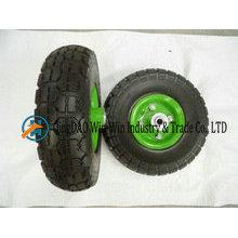 3.00-4 roue solide de PU pour le chariot à main de fournisseur de la Chine