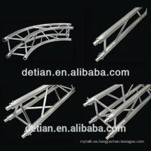 Mini truss de aluminio, truss de stand de exposición, truss de espiga de aluminio