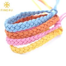 2021 New Trend Handmade Bohemian Multi Color Woven Friendship Rope Braided Bracelet
