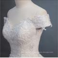 Роскошный белый тяжелый из бисера с коротким рукавом свадебное платье свадебное платье 2018 с большим хвостом