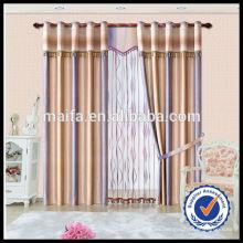 2014 tela tejida tejida vendedora caliente de la cortina del slub para la cortina de la sala de conferencias