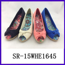 Damen Sommer neue Farbe Keil Schuh elegante Keil Ferse Schuhe Keil Schuhe