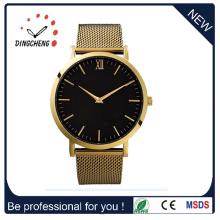 Relógios de pulso Relógios de aço inoxidável Ladies Men's Quartz Watch (DC-723)