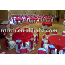 Satin common style chair cover,hotel/banquet chair cover,red satin sash