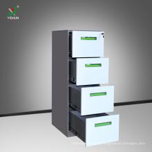 barato mobília anti-tilt do armário de armazenamento do arquivo da gaveta do metal 4 do escritório do inclinação