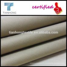 tissu satin teint solide avec mèche pour vent manteau/blouse tissu utilisation slub/sergé tissage tissu