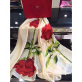 Pur Silk Flower Scarf