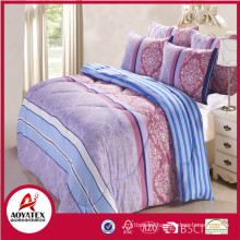 Latest printed Design Microfiber Polyester comforter set with matching cushion