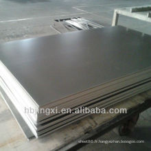 Feuille rigide de PVC gris foncé