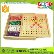 Froebel Gabe J2 peg board hölzernes gabe pädagogisches spielzeug für kinder mit ce zertifizierung