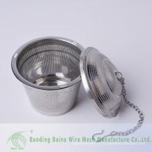 Peneiras de aço inoxidável de alta qualidade, filtros de chá