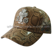 Shinning Fake Leather Fabric Custom Embroidery Trucker Hat (TMT1917)