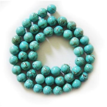 Perles rondes turquoise 8MM