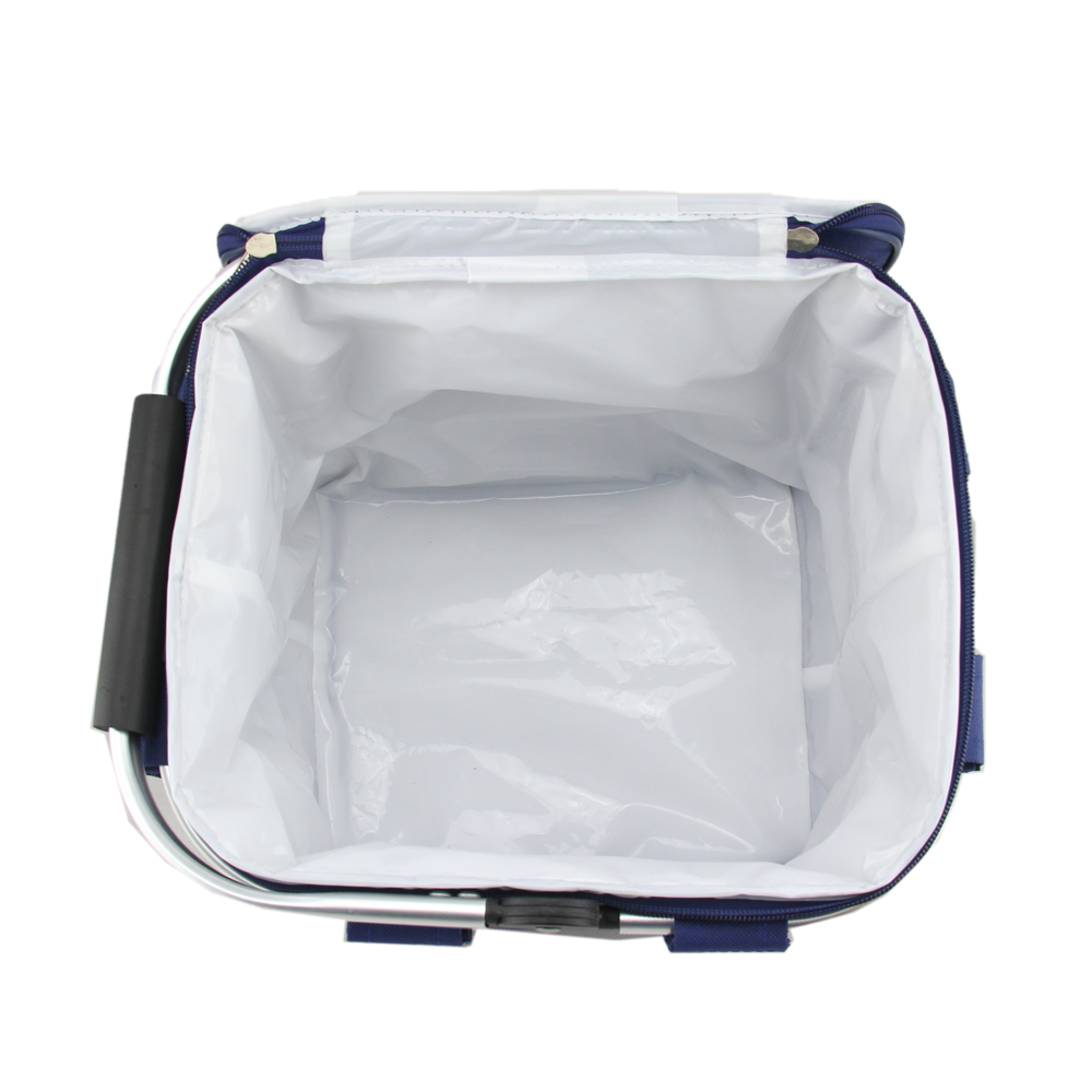 Folding Thermal Picnic Basket Insulated Cooler Bag