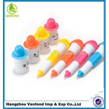 2015 productos novedosos para importar plástico flexible sonrisa Linda cara bolígrafo