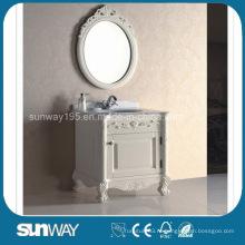 Античный массивный шкаф для ванной комнаты с сертификатом (SW-8011)