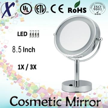 8.5′′ LED cosmético tabla espejo de pie (Sensor, interruptor táctil)