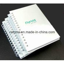 A5 Cuaderno espiral de la cubierta blanca para el regalo promocional