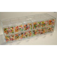 12 Drawers Acrylic Candy Display Cases