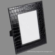 5 X 7 Black Crocodile Leather Photo Frame