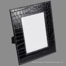 5 X 7 Black Crocodile Leather Photo Frame