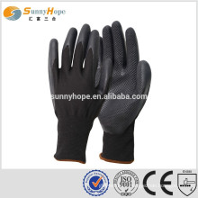 sunnyhope 13gauge safety latex diamond on palm knitting gloves
