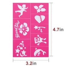 Easy to Stick Down Face Paint Stencils Kit