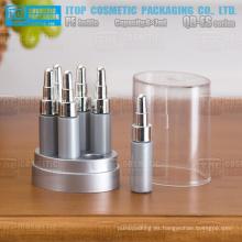 QB-ES07 7 ml x 6 pelo aceite esencial facial spa productos gotero botella plástico PE esencia botella colección