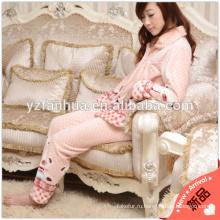 Теплый коралловые флис пижамы костюм для зимнего дома отдыха износа 250gsm