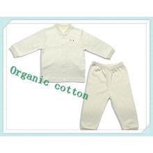 Traje de cuerpo orgánico del bebé del algodón orgánico con 2PC para el nuevo bebé