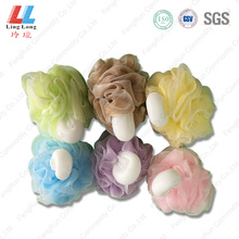 Flower sponge ball with shank