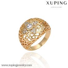 13403 China Wholesale Xuping Moda elegante 18k anel de ouro pérola mulher