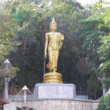 hochwertige hochwertige antike Bronze stehend Buddha-Statue