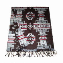 Winter Woven Jacquard Scarf, Made of 100% Acrylic