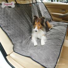 Couverture réversible imperméable de siège de voiture de chien d'animal familier de nylon et de velours côtelé pour le chien