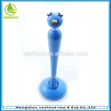 Pluma de novedad promoción mesa de plástico con soporte